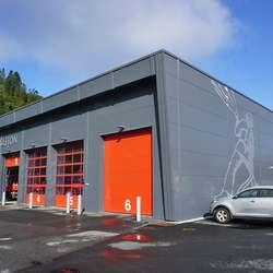 Hovden vil planlegga framtidig utviding av brannstasjonen på Moberg. (Foto: KVB)