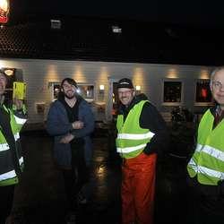 Nils, William, Dag og Terje utgjorde teknisk avdeling. (Foto: KVB)