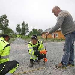 Arbeidet blir leia av Thorhallur Holmsgeirsson. (Foto: Kjetil Vasby Bruarøy)