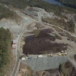 Foto med drone i førre veke. (Foto: Varde Aerial)