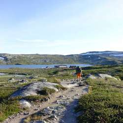 Åå vei til Krækkja turisthytte som er den eldste turisthytten på Hardangervidda