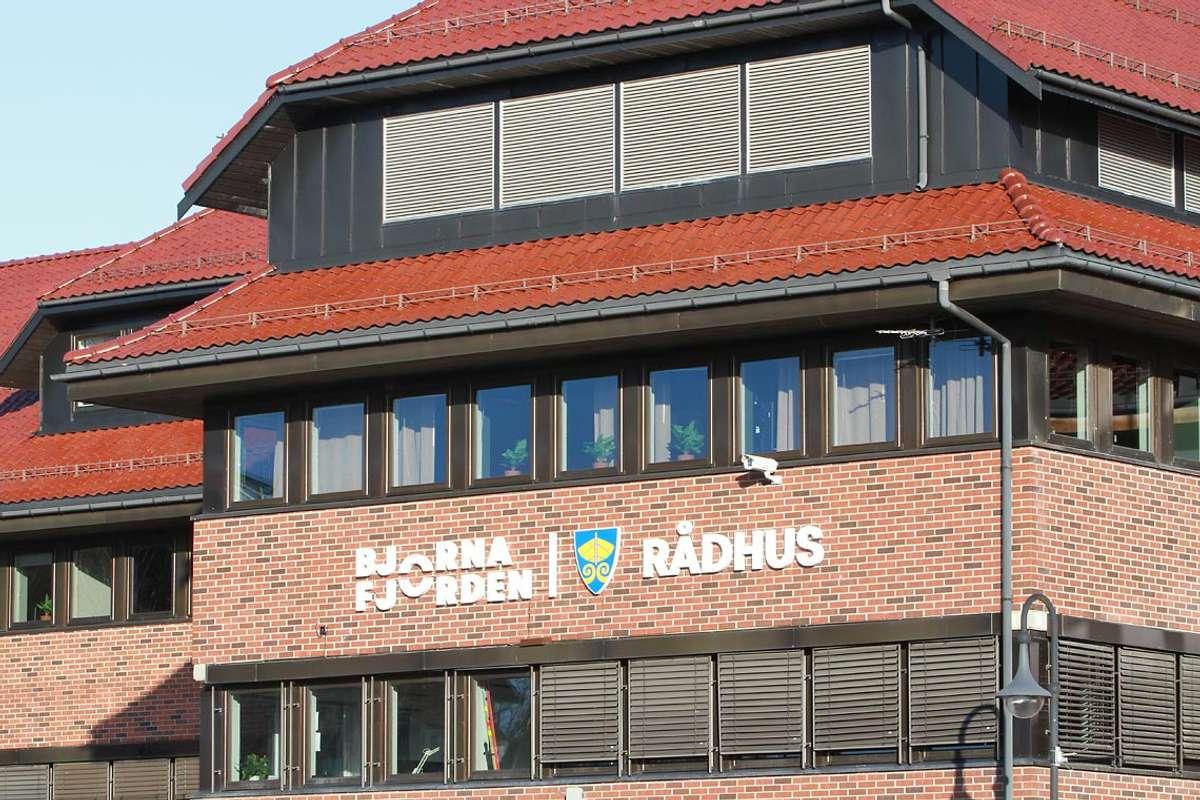 Bjørnafjorden rådhus. (Foto: Kjetil Vasby Bruarøy)