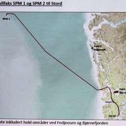Sleperute frå Langenuen til Nordsjøen. (Kystverket)