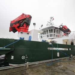 Båten blei overtatt i desember, men er nett kome heim. (Foto: KVB)