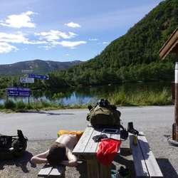 En liten hvil ved Haugastøl og Rallarvegen