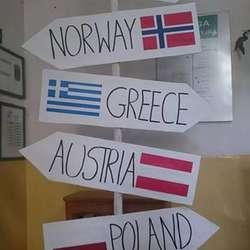Landene som er med i prosjektet (privat foto)