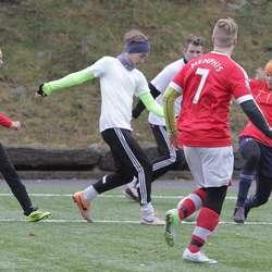 FC Ballebrokk tapte 1-0 for FC Ingenting, som seinare vann finalen. (Foto: KVB)
