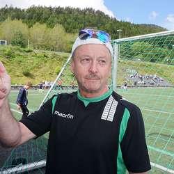 – A-laget har mange fine forbilde for ungane våre, seier Asbjørn «AB» Bergstø. (Foto: KVB)