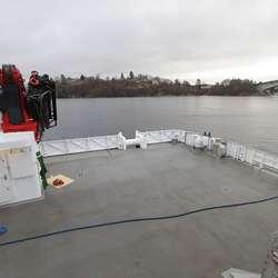 Båten er 0,6 meter breiare enn førre trimaran. (Foto: KVB)
