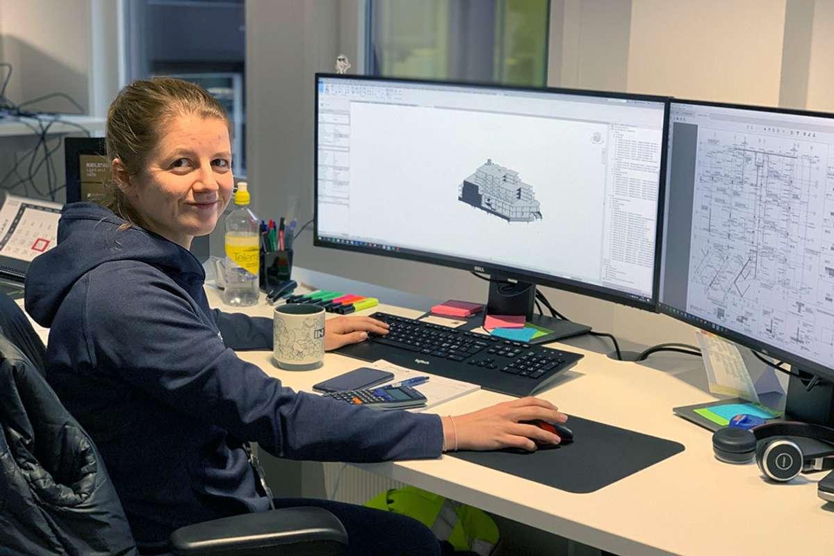 Åsne Takle Eide trivst godt med ingeniørjobb hos Norconsult. (Foto: Privat)