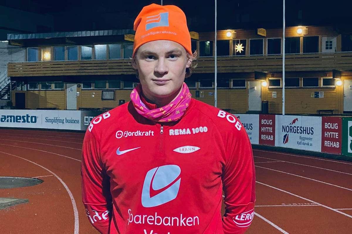 Det lokale spisstalentet, Elias Heggland Myrlid, har signert for Sportsklubben Brann. (Foto: Ørjan Håland)