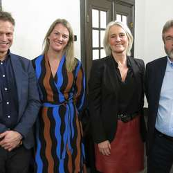 F.v.: Tore Mong (Greenbyte), Caroline Wang (Menon/Cowi), Tone Hartvedt og Vidar Totland fra Invest in Bergen.