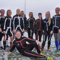 2. plass i dameklassen: Skøyerstrekane.