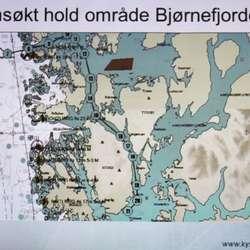 Også offshore-næringa har interesser i Langenuen og Bjørnafjorden. Sleperute frå Langenuen til Nordsjøen. (Kystverket)
