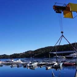 Drange har 200 båtplassar for utleige. (Foto: KVB)