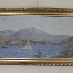 Reksten får i forliket eigarskap til «Bergen sett fra byfjorden» av N. A. Johannessen.
