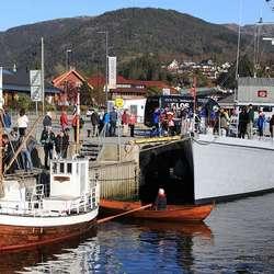 I går var det open båt. (Foto: KVB)