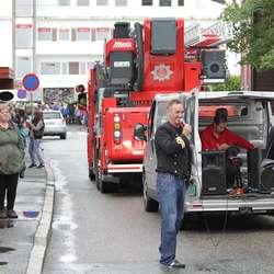 Os brannvesen i tet. Rune Nilsen var speaker for dagen. (Foto: KVB)
