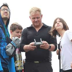 Drone-action med Hugo Hansen. (Foto: KVB)