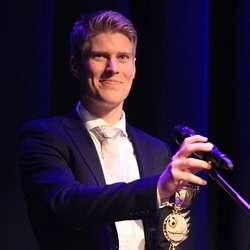 Årets spelar Marius Haugland Mikkelsen. (Foto: KVB)