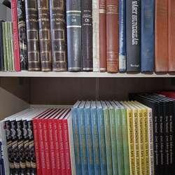 Lars og Nils sine bøker - i kvar sin etasje.