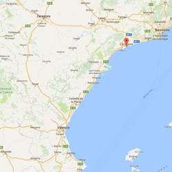 Tarragona ligg ein time sør for Barcelona. (Google Maps)