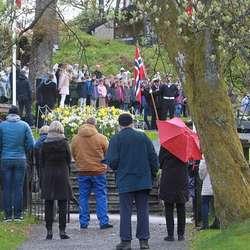 8. mai-markering i Minneparken.  (Foto: KOG)