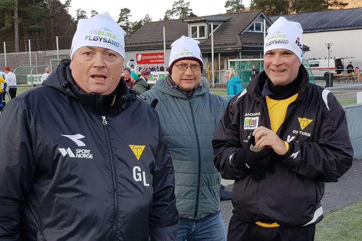 KA (midten) er klar, Gjermund og Kjetil er nesten klar.