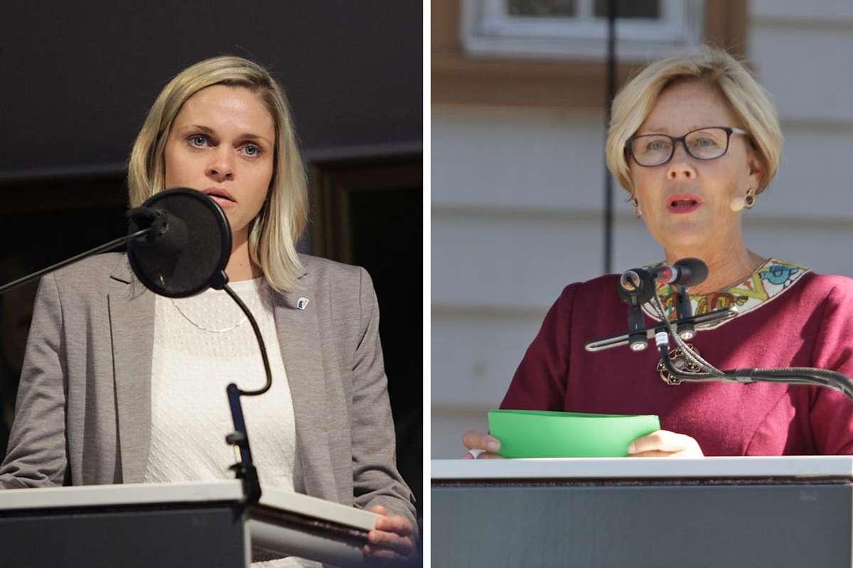 Marie Lunde Bruarøy og Lisbeth Axelsen var dei som vigde flest borgarleg i Bjørnafjorden i fjor. (Foto: KVB)