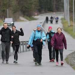 Gjekk marsjen med gjestar frå Kanariøyane. (Foto: CFB)