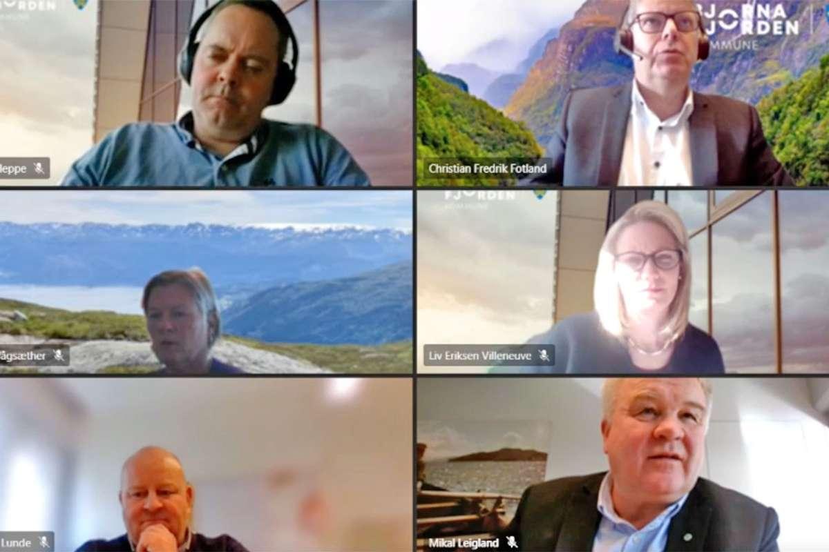 Dagens møte går på Teams og blir sendt på kommune-TV.