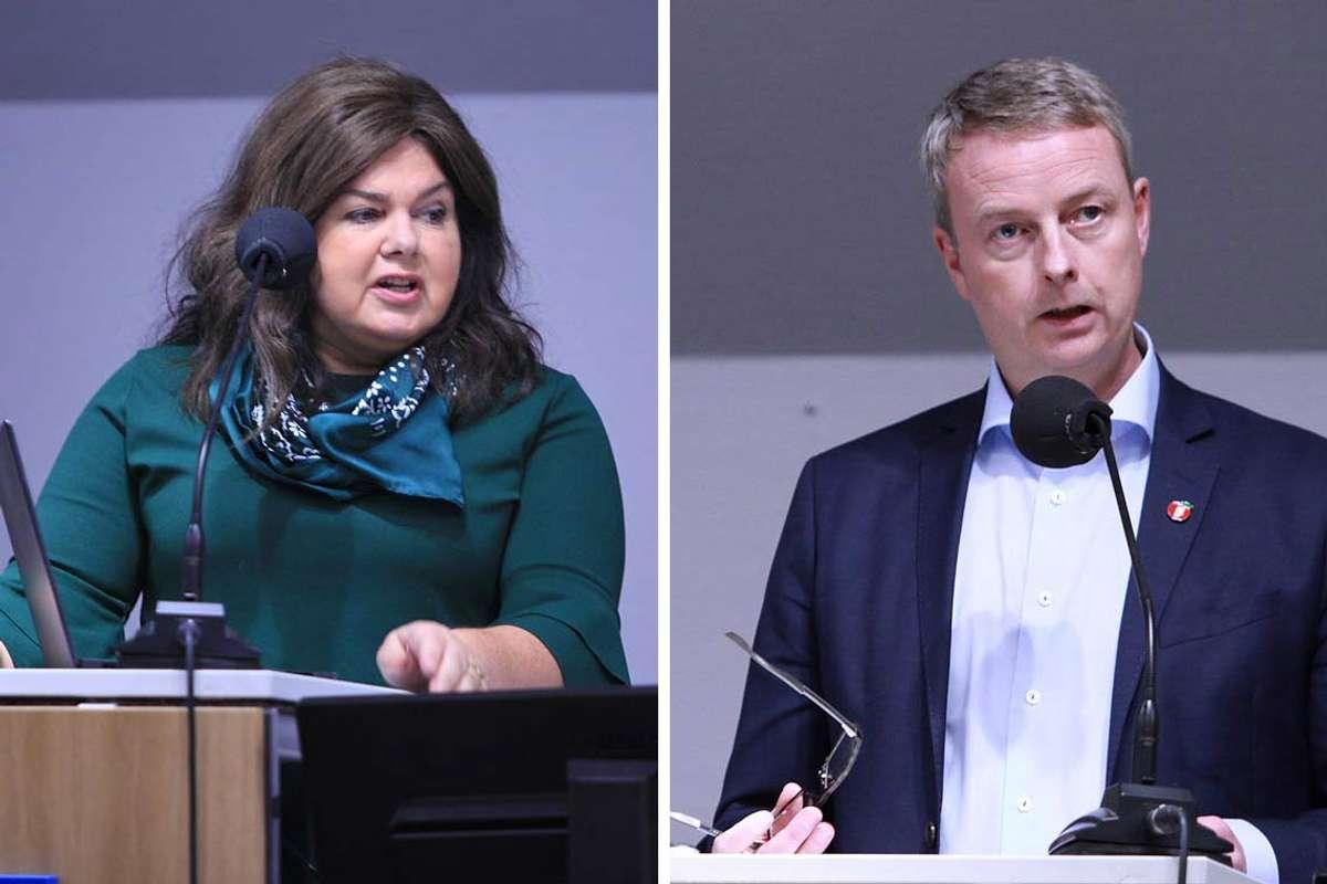 Laila Reiertsen og Terje Søviknes. (Foto: Kjetil Vasby Bruarøy)