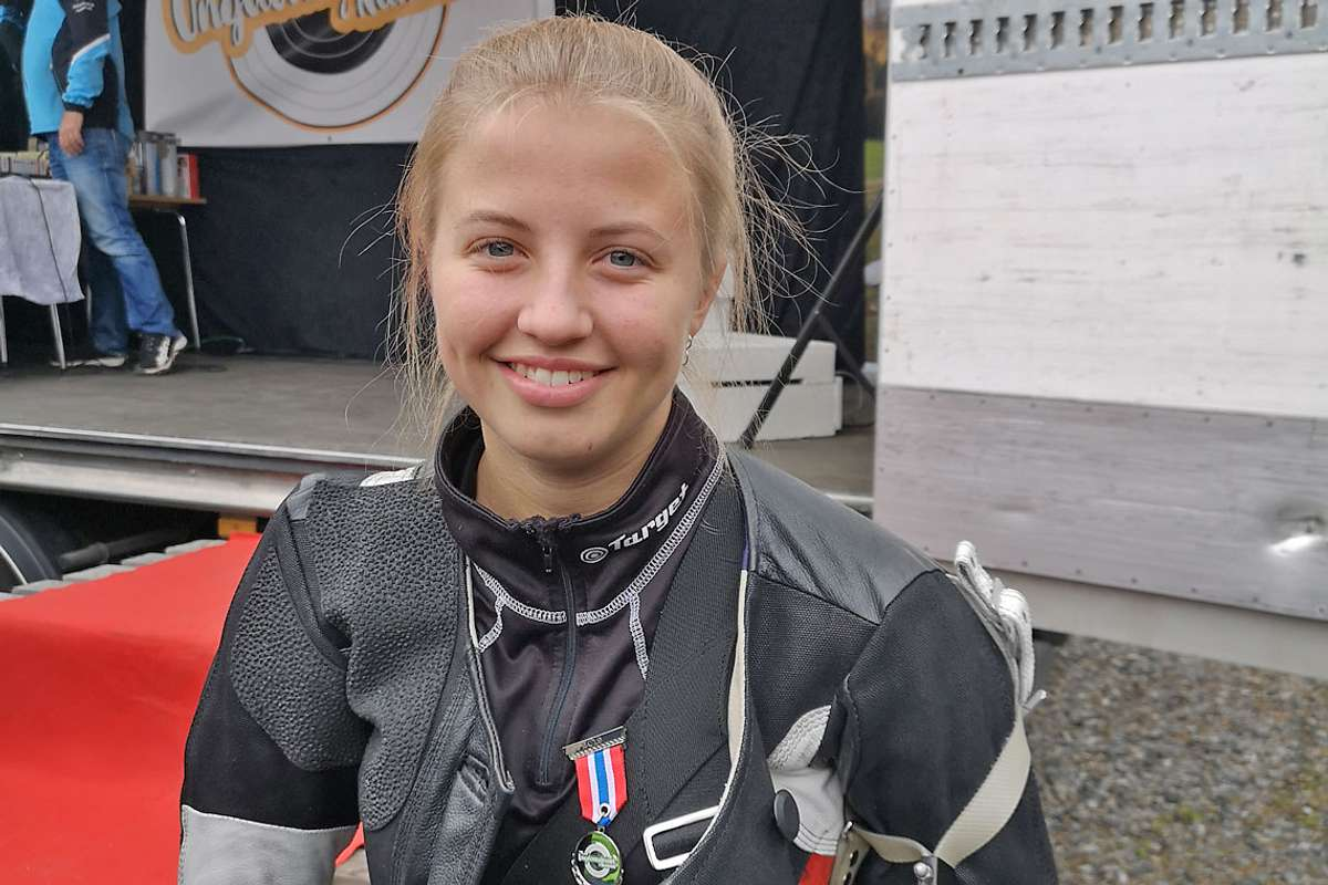 Sofie Evensen sikra andreplassen i juniorklassen under stemnet i Numedal. (Foto: OSL)