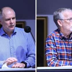 2 x KrF: Enerhaug var skeptisk, Lillestøl serverte rosiner. (Foto: KVB)