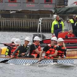 Dei som velta i første heat fekk prøva med færre i båten. (Foto: KVB)