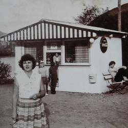 Linda si svigerbestemor Anny dreiv kiosk til midten på 70-talet. (Privat foto)