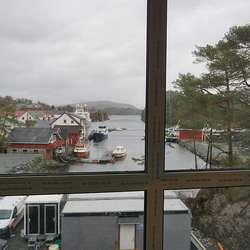 Utsikta frå kantina. (Foto: KVB)