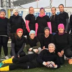 Borgafjell barnehage debuterte i dameklassen. (Foto: KVB)