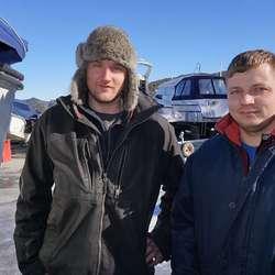 Christoffer Breivik og Almantas Palmonas. (Foto: KVB)