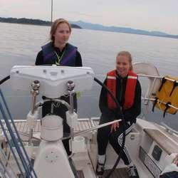 Dyktige jenter, her Helle og Eirun (privat foto)