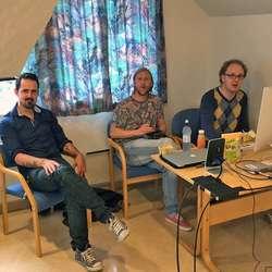 Anders Fløysand, Ørjan Håland og Gerhard Just Olsen under testing måndag. (Foto: KVB)