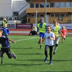 Stafett og konkurransar skaper full innsats. (Foto: Ørjan Håland)