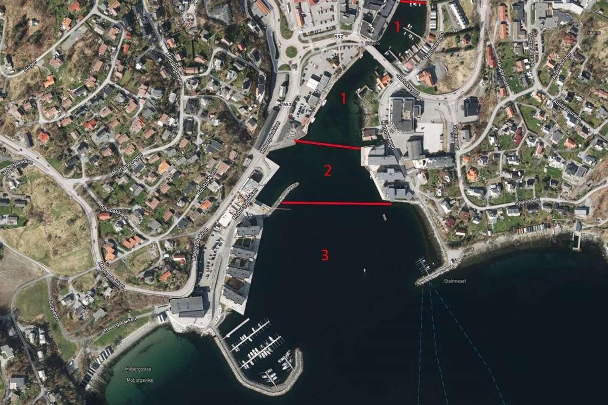 Vil du fiska i 100-meterssona (felt 2) må du venta til 15. juli med å ta laks. (Kart: Os kommune)