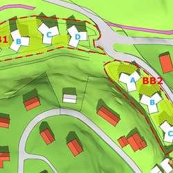 48 leilegheiter langs Likbrekko og 36 på Fjellheimtomta (ill: ABO for Os kommune)