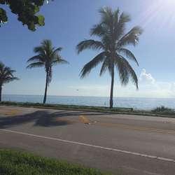 Alt var stengt og stille i Florida i går, i dag er evakueringa i full gang. (Privat foto)