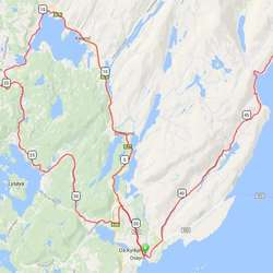 Slik er løypa, med start på Os, ei runde om Fanafjellet, før syklistane kjem tilbake til Os