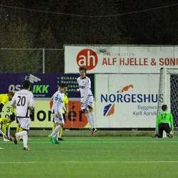 Men det var Eirik Våge på Åsane som skåra først. (Foto: KVB)