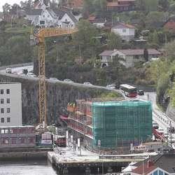 Køen opp Mobergsbakken blei ikkje så lang.  (Foto: KVB)