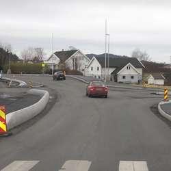 Prosjektet starta frå og med krysset på Grindavoll. (Foto: KVB)