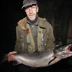 6-7 minutt over midnatt tok Bjørn Eitrheim denne på 5 kilo i sone 1.  (Foto: KVB)